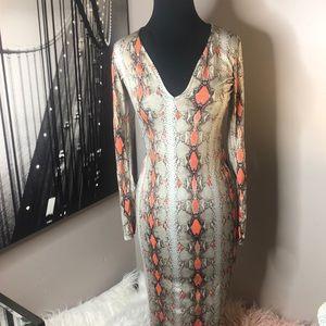 Fashionnova snake skin patterned dress